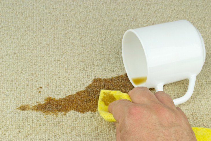 how to clean coffee stains from carpet of car