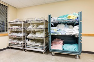 Uniform Rental has no inventory or storage costs