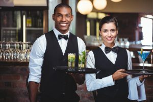 well dressed waiter waitress market brand make impression uniform uses